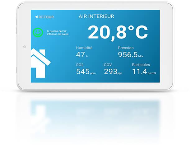 Tablette Eoletouch pour la qualité de l'air intérieur